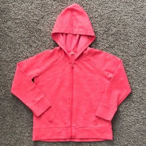 Girls Old Navy Hoodie, Orange/Pink, Size 8 Medium